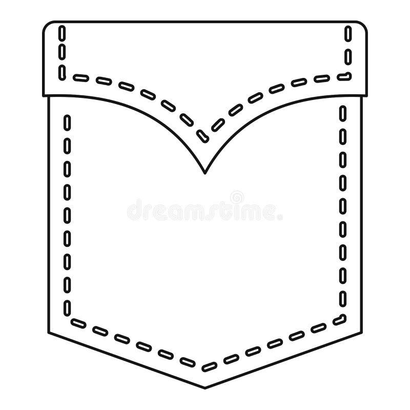 Abstrakt kieszeniowa ikona, konturu styl royalty ilustracja