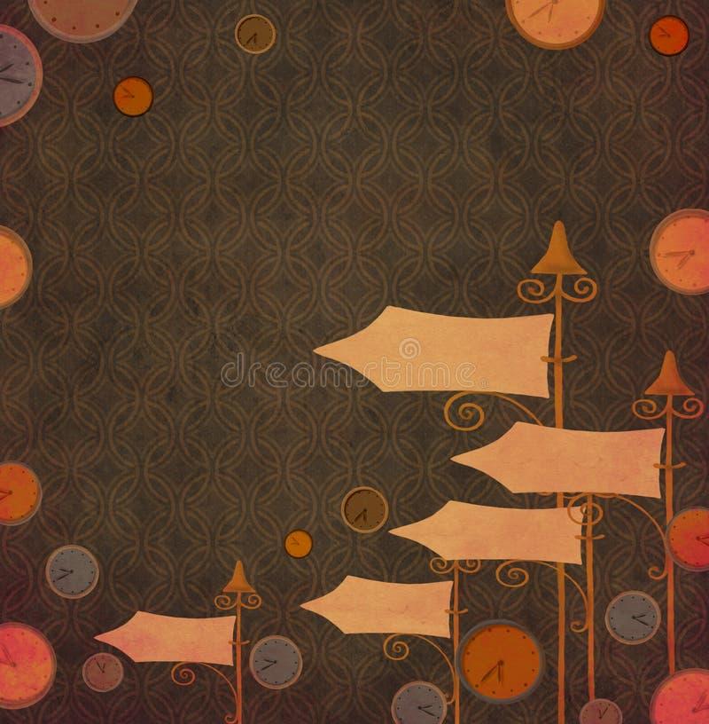 abstrakt klocka stock illustrationer