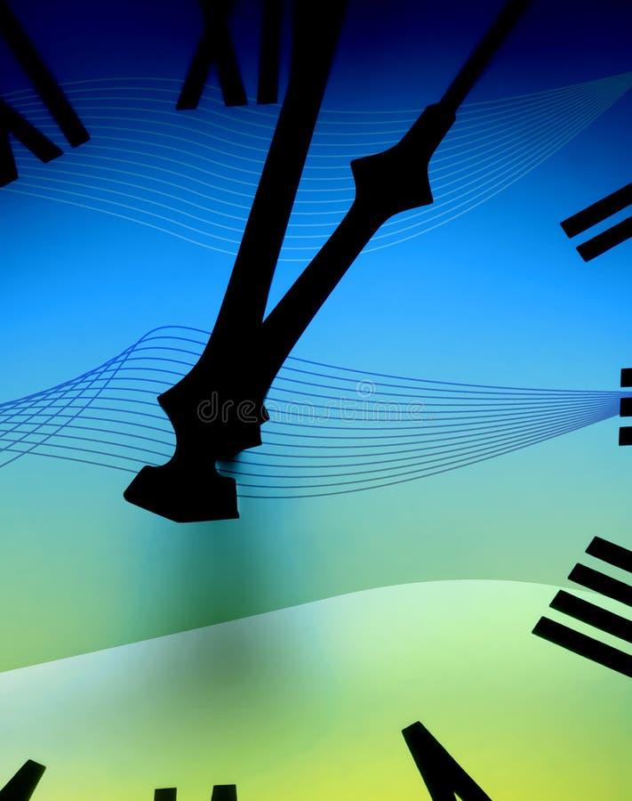 abstrakt klockaframsida royaltyfri illustrationer