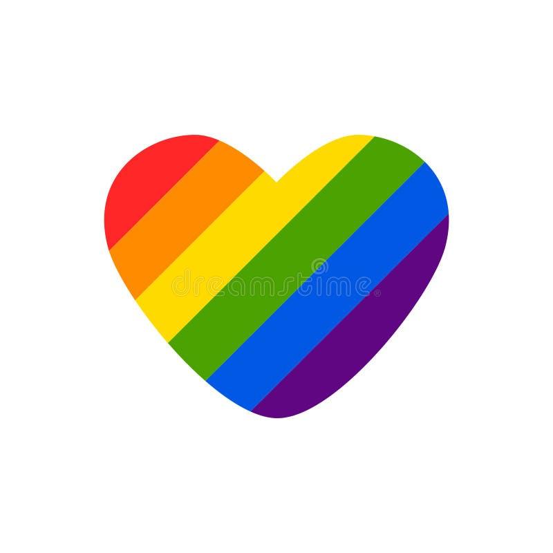 Abstrakt klottermodell för vektor Utdragen hjärtastolthet för hand, förälskelse, fred med regnbågen Glat ståta slogan LGBT-rättsy vektor illustrationer