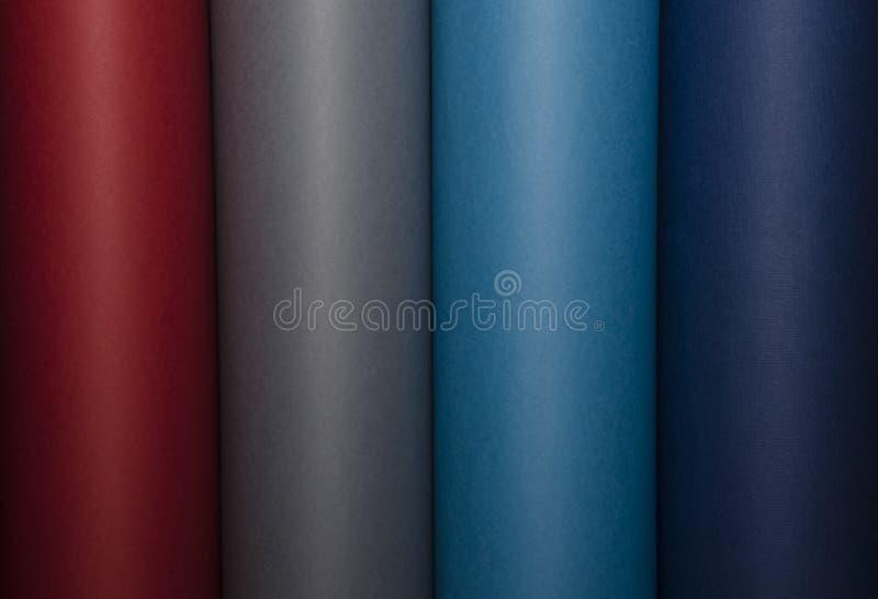 Abstrakt, kolorowy wizerunek cylindryczni kształty fotografia stock