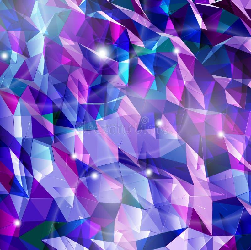 Abstrakt kombination av triangeln. Vektor vektor illustrationer