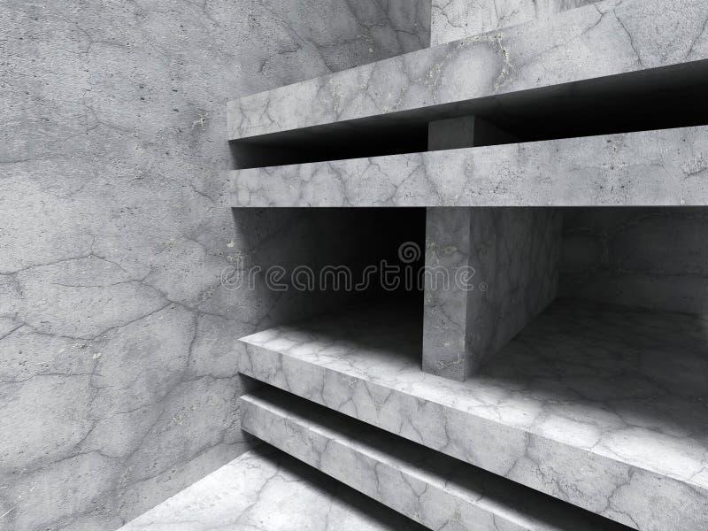 Download Abstrakt Konkret Arkitektur Geometrisk Sprucken Des För Stenvägg Stock Illustrationer - Illustration av grått, lokal: 78729468