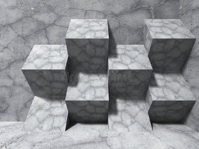Download Abstrakt Konkret Arkitekturbakgrund Skära I Tärningar Modern Design C Stock Illustrationer - Illustration av konstruktion, konkret: 78729222