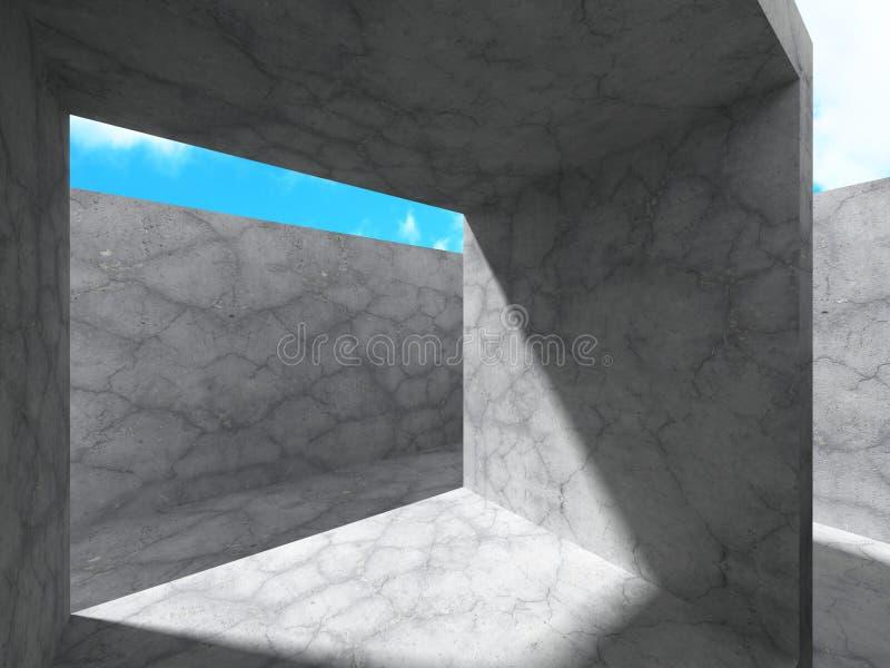 Download Abstrakt Konkret Arkitekturkonstruktionsbakgrund Stock Illustrationer - Illustration av modernt, etapp: 78729539