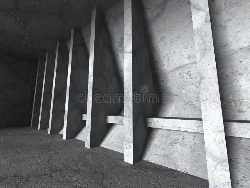Download Abstrakt Konkret Konstruktion Tom Stads- Ruminre Stock Illustrationer - Illustration av lampa, utgångspunkt: 78729897