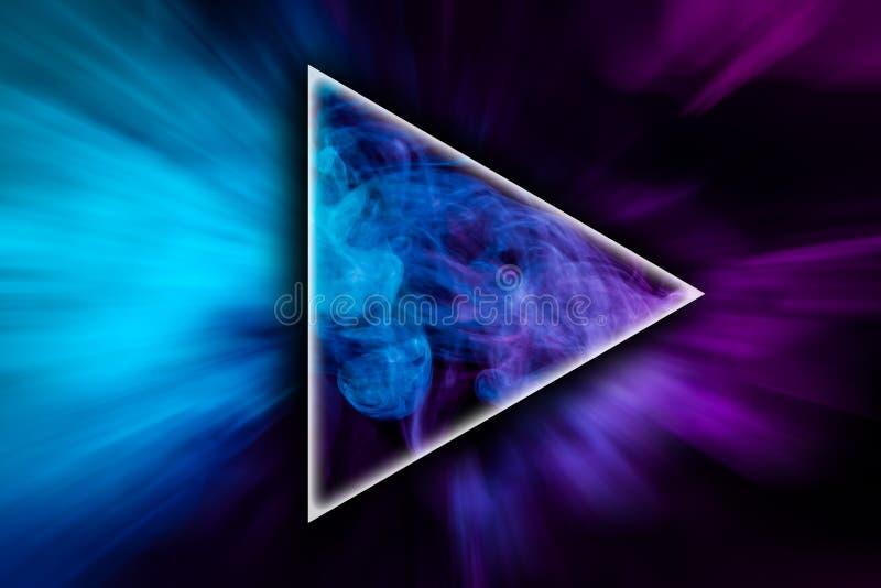 Abstrakt konst färgade rök i formen av en triangel royaltyfri fotografi