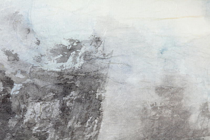 Abstrakt konst för kinesisk målning på grå färgpapper arkivbild