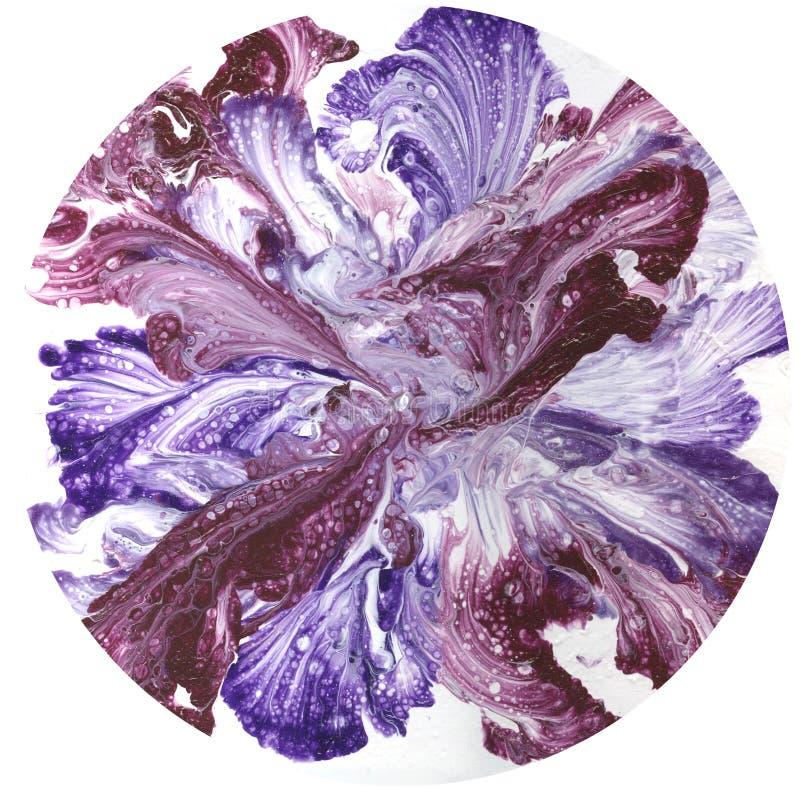 Abstrakt konst, abstrakt målning, abstrakt textur, färgcirkel på vit bakgrund, sfär på vit bakgrund, blomma på vit royaltyfri illustrationer