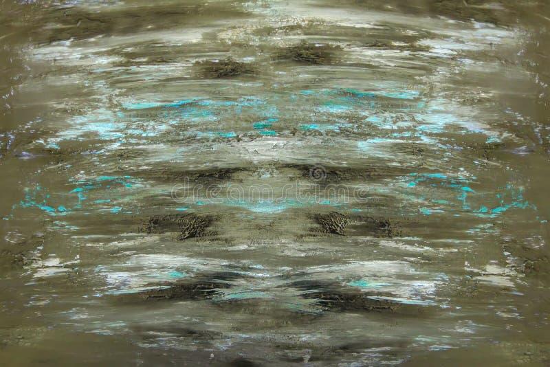 abstrakt konstbakgrund Akrylmålning på papper Mångfärgad smutsig grov textur Fragment av modernt konstverk stock illustrationer