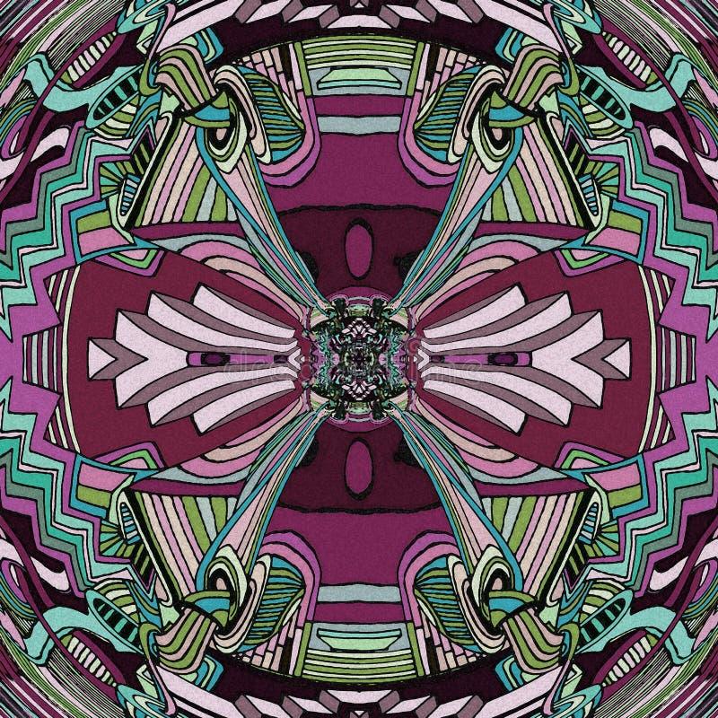 abstrakt konstbakgrund Lek av linjen och färger stock illustrationer