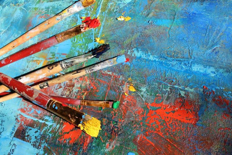 abstrakt konstbakgrund målad bakgrundshand arkivfoto