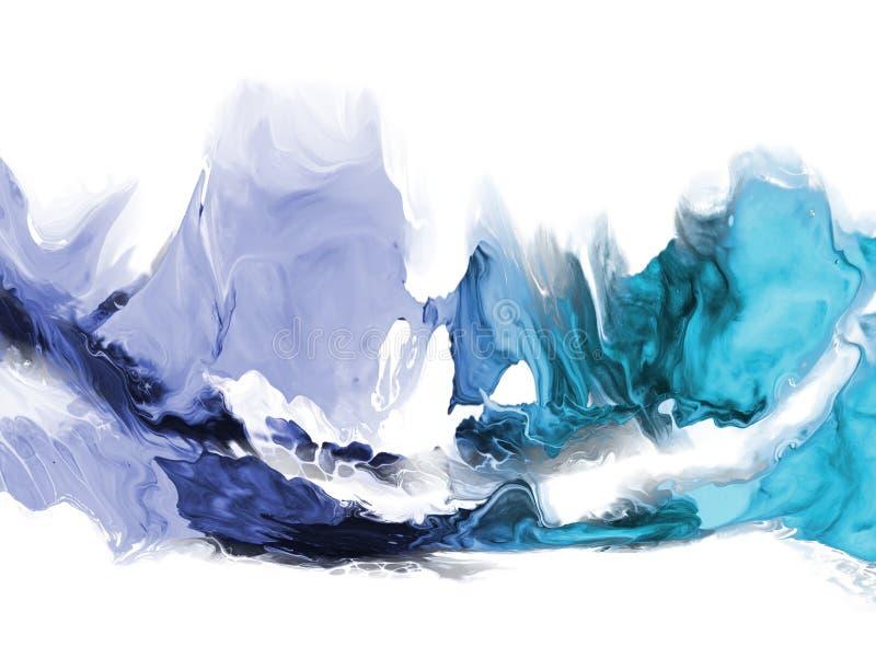 abstrakt konstbakgrund Oljemålning på kanfas Fragment av konstverk Fläckar av olje- målarfärg Penseldrag av målarfärg modern kons stock illustrationer