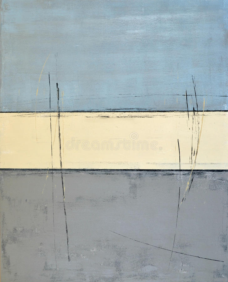 Abstrakt konstmålning för blått arkivfoton