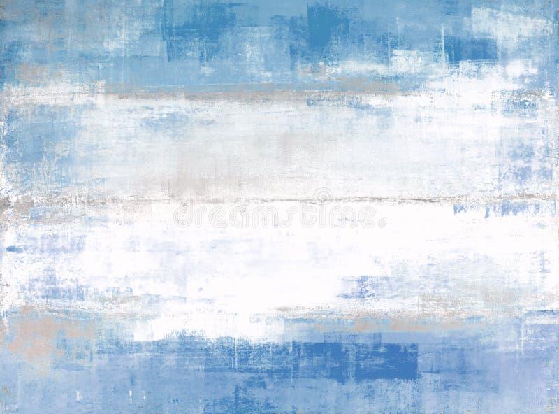 Abstrakt konstmålning för blått och för grå färg vektor illustrationer