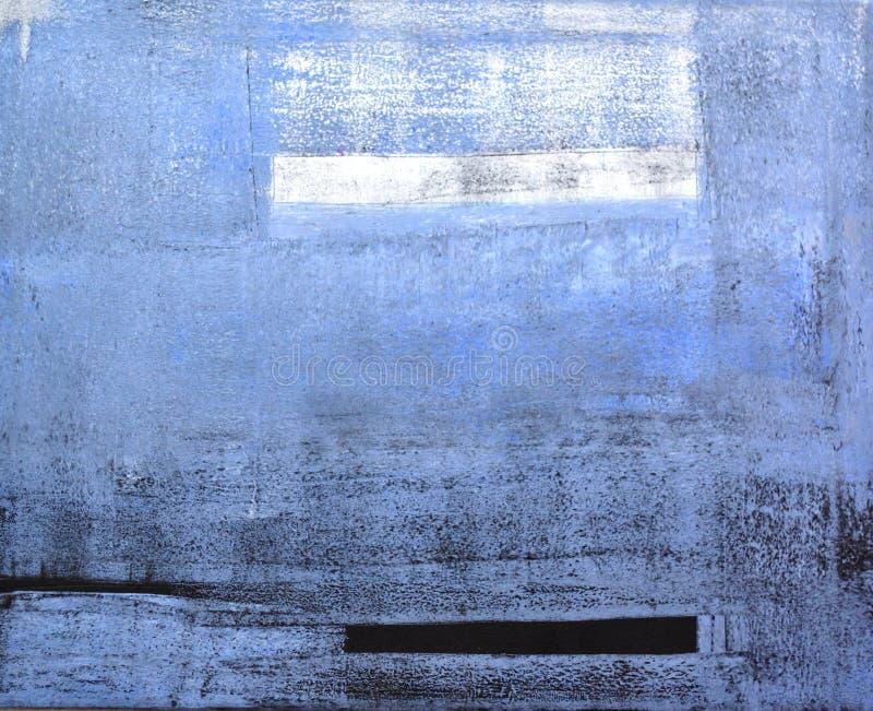 Abstrakt konstmålning för Grey och för Blue arkivbild