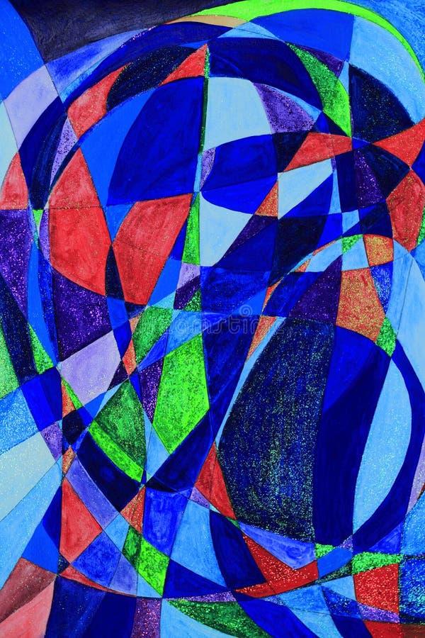 abstrakt konstmålningsserenethos stock illustrationer