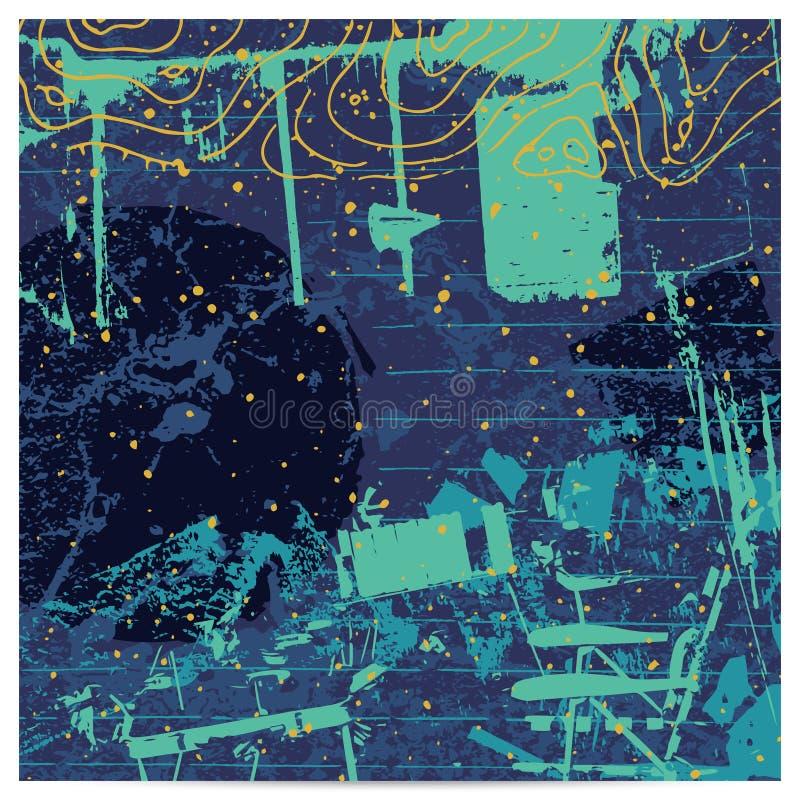 abstrakt konstnärlig bakgrund vektor illustrationer