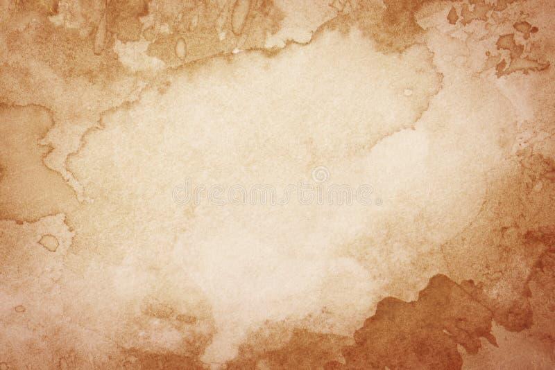 Abstrakt konstnärlig brun vattenfärgbakgrund arkivbilder