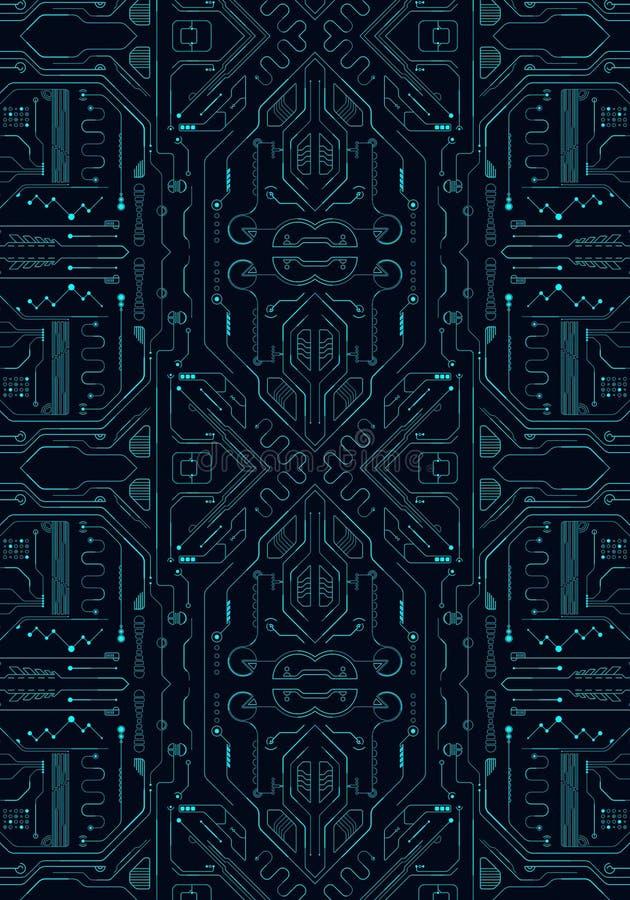 Abstrakt konstnärlig illustration 3d av ett teknologiskt modernt nätverk som en unik bakgrund vektor illustrationer