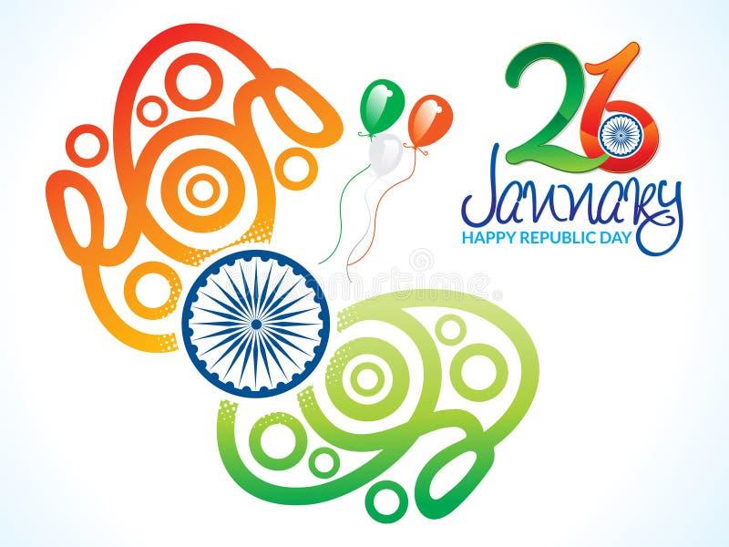 Abstrakt konstnärlig indisk republikdag stock illustrationer