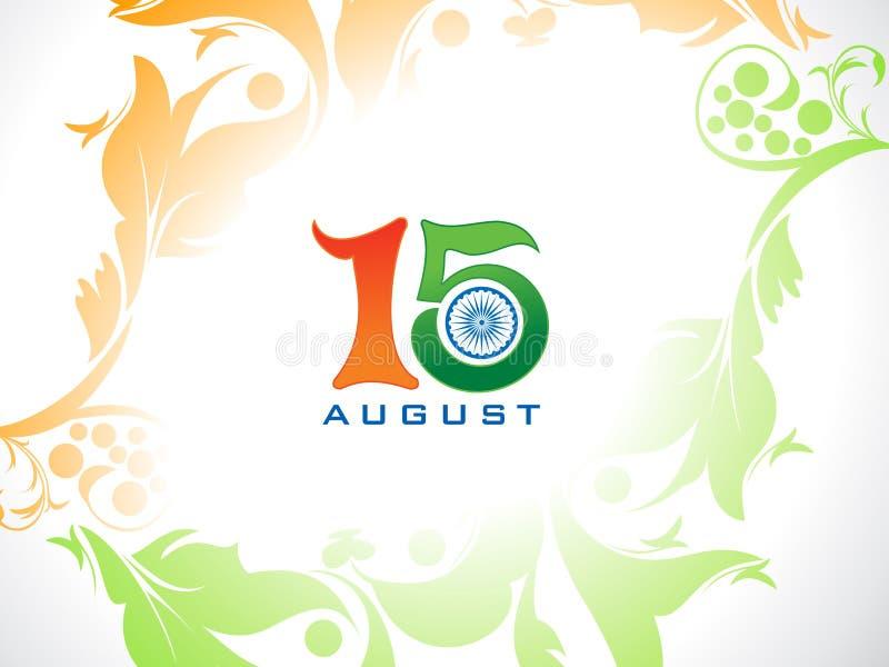 Abstrakt konstnärlig indisk självständighetsdagenbakgrund stock illustrationer