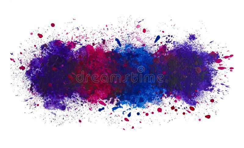 Abstrakt konstnärlig vattenfärgfärgstänk av målarfärgbakgrund, det djupa havet arkivbilder