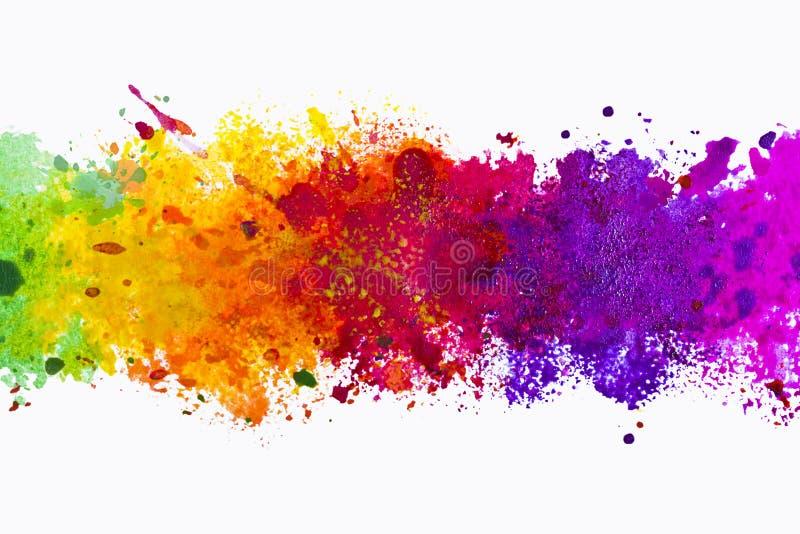 Abstrakt konstnärlig vattenfärgfärgstänkbakgrund vektor illustrationer