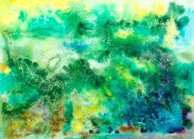 Abstrakt konstnärlig vattenfärggräsplanbakgrund arkivfoton