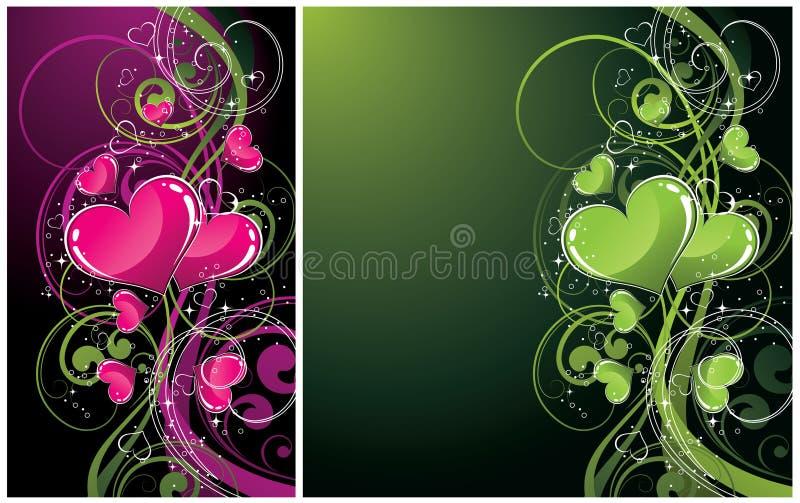 abstrakt konstnärliga bakgrunder stock illustrationer