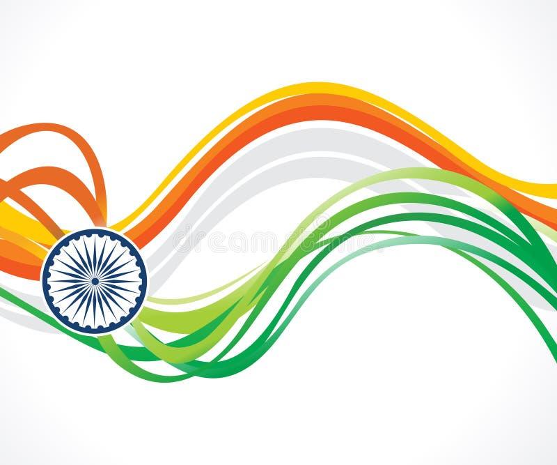 Abstrakt konstn?rlig id?rik indisk flagga stock illustrationer