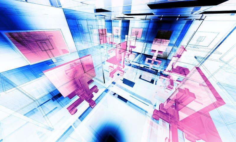abstrakt kontor vektor illustrationer
