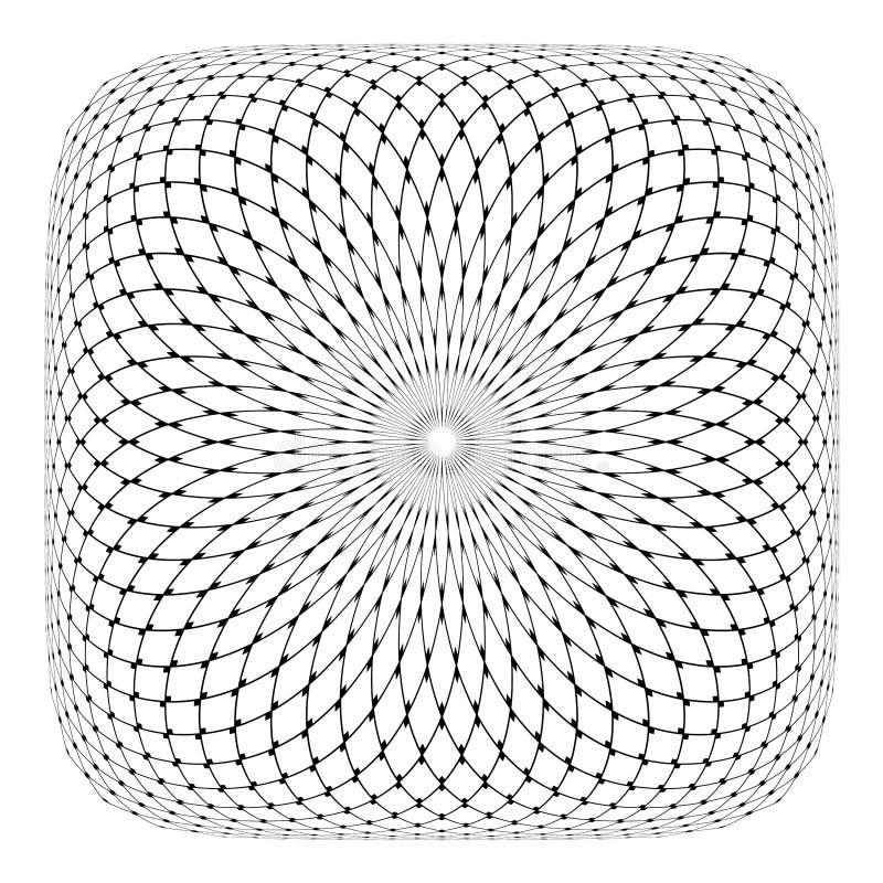 Abstrakt konvex geometrisk modell Latticed textur royaltyfri illustrationer