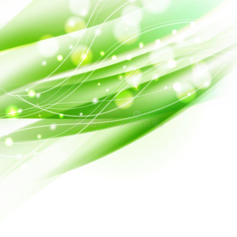 Abstrakt krabb grön bakgrund stock illustrationer