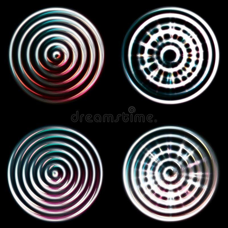 abstrakt kromcirklar royaltyfria foton