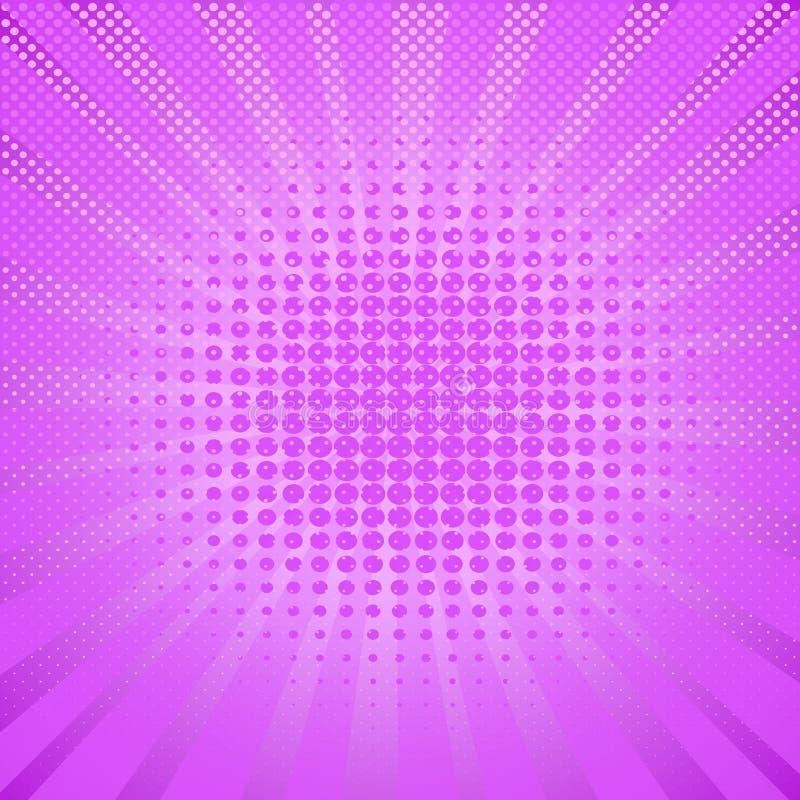 Abstrakt kropek różowy halftone tło w wystrzał sztuki stylu royalty ilustracja