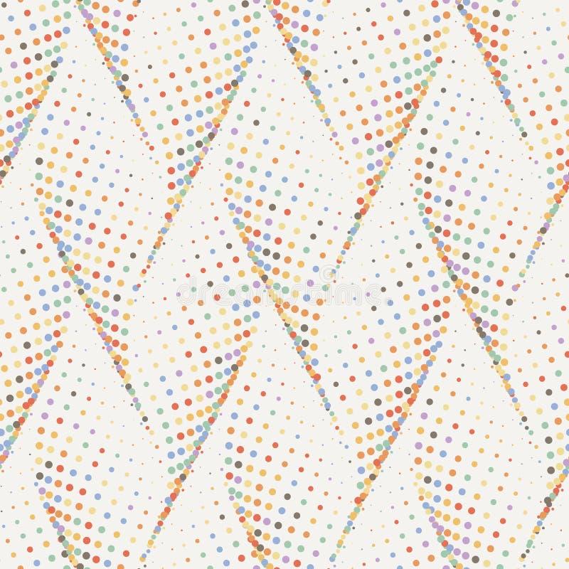 Abstrakt kropkująca falowa elegancka tekstura Wektorowy bezszwowy geometryczny wzór ilustracja wektor