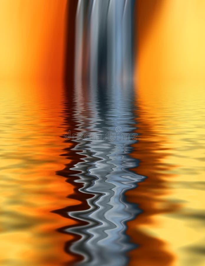 abstrakt krusningar vektor illustrationer