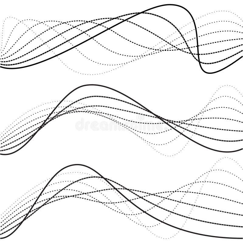 Abstrakt krzywy, kropkowane linie royalty ilustracja