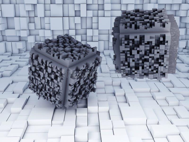 Abstrakt kub royaltyfri illustrationer
