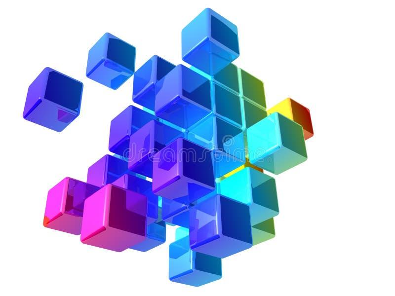 abstrakt kuber royaltyfri illustrationer