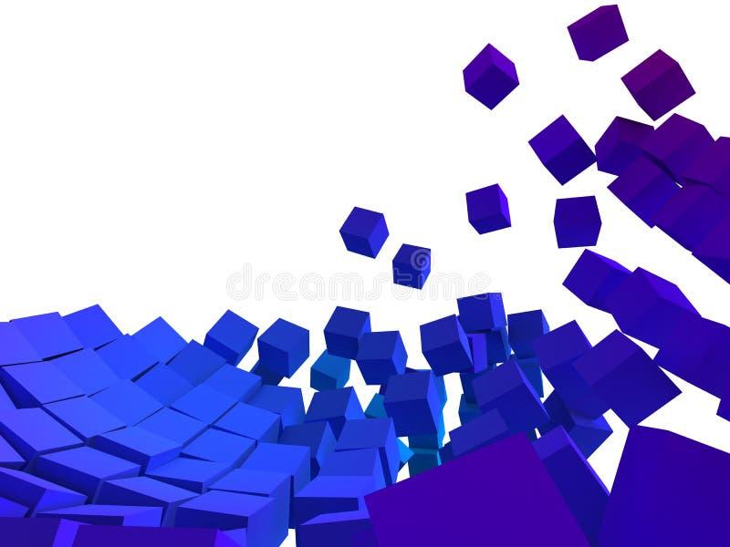 abstrakt kuber vektor illustrationer