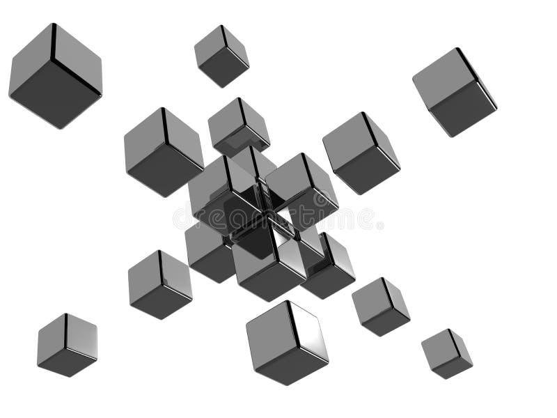 abstrakt kuber 3d vektor illustrationer