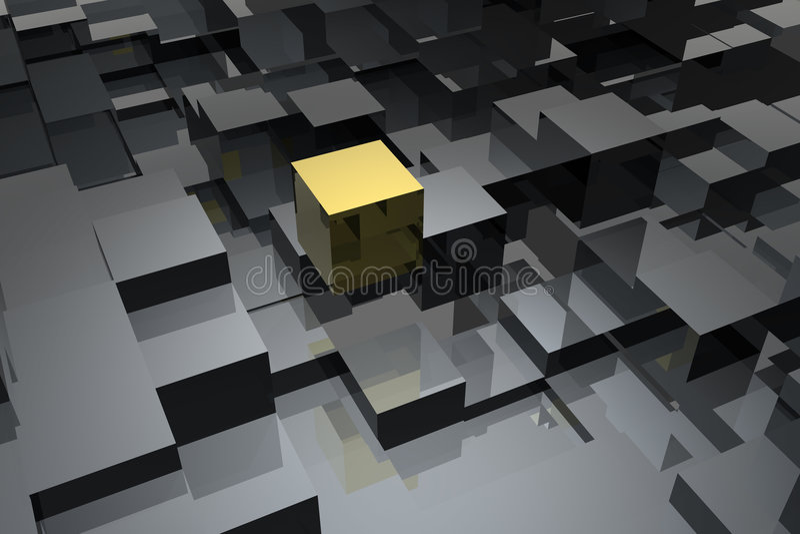 abstrakt kuber stock illustrationer