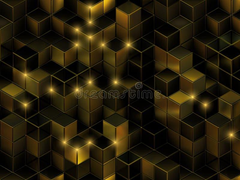 abstrakt kuber för bakgrund 3d stock illustrationer