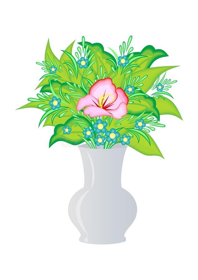 Abstrakt kwitnie w wazie royalty ilustracja