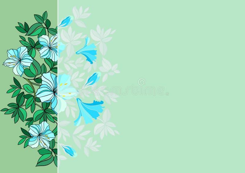 Abstrakt kwitnie z tłem ilustracja wektor