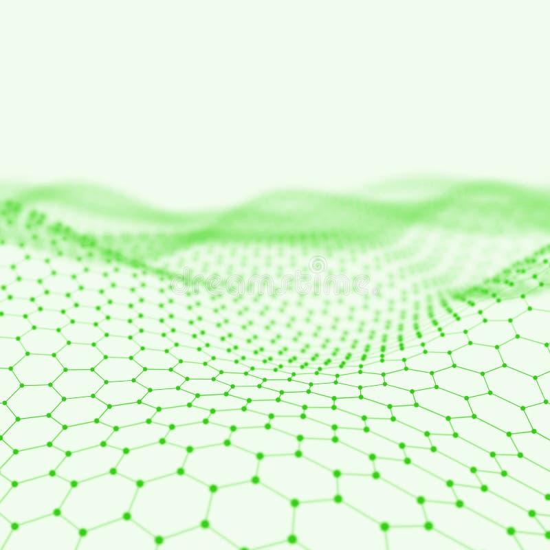 Abstrakt låg poly bakgrund Polygonal bakgrund för Plexus För Plexus poly landskapbakgrund lågt Sexhörningsabstrakt begrepp royaltyfri fotografi