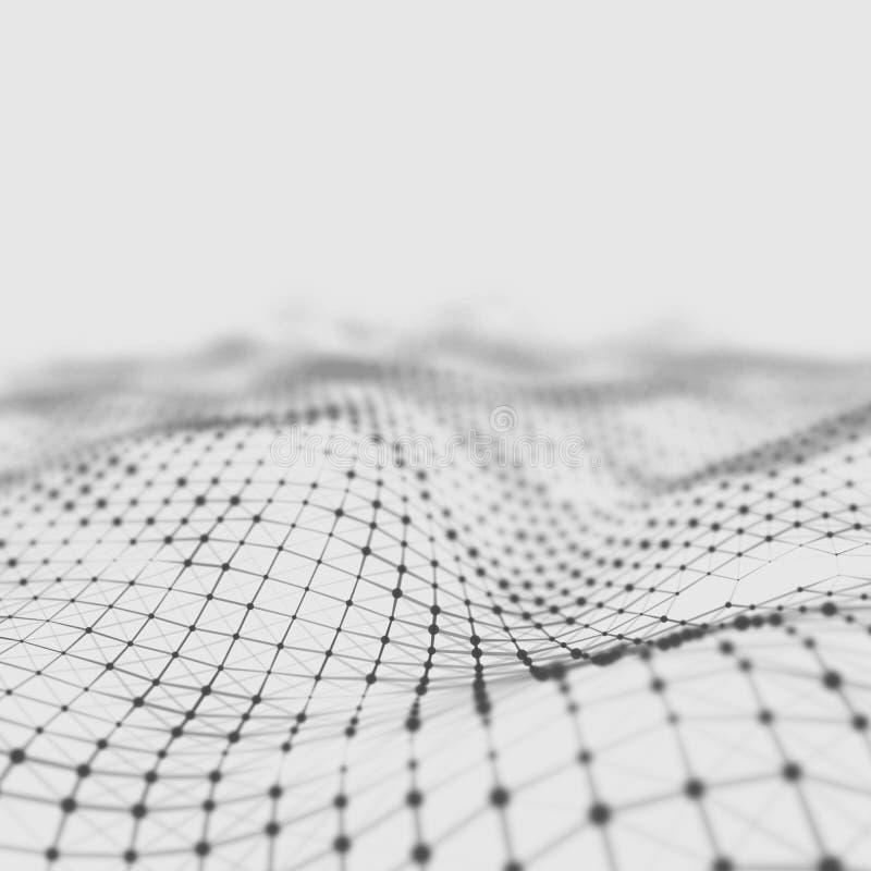 Abstrakt låg poly bakgrund Polygonal bakgrund för Plexus För Plexus poly landskapbakgrund lågt plexus för wireframe 3D royaltyfria bilder