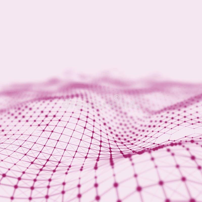 Abstrakt låg poly bakgrund Polygonal bakgrund för Plexus För Plexus poly landskapbakgrund lågt plexus för wireframe 3D arkivfoto